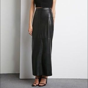 Forever 21 faux leather maxi skirt